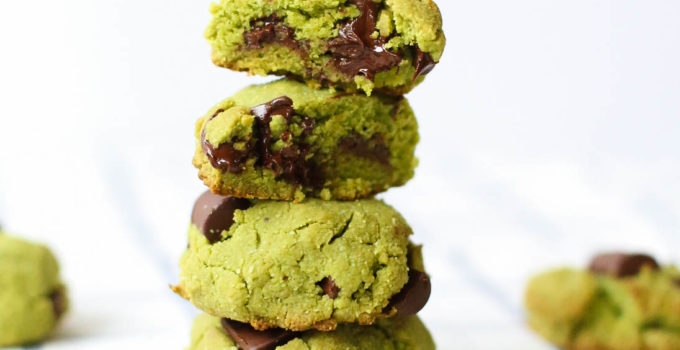 MATCHA MINT CHOCOLATE CHIP COOKIES